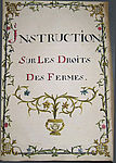 Instruction sur le droit des fermes - Manuscrit du 18è s